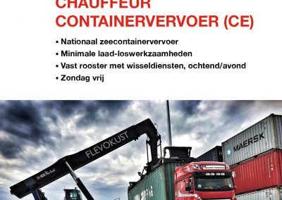 Vacature Chauffeur containervervoer